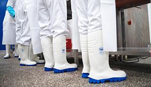 Botas de caucho para carniceros